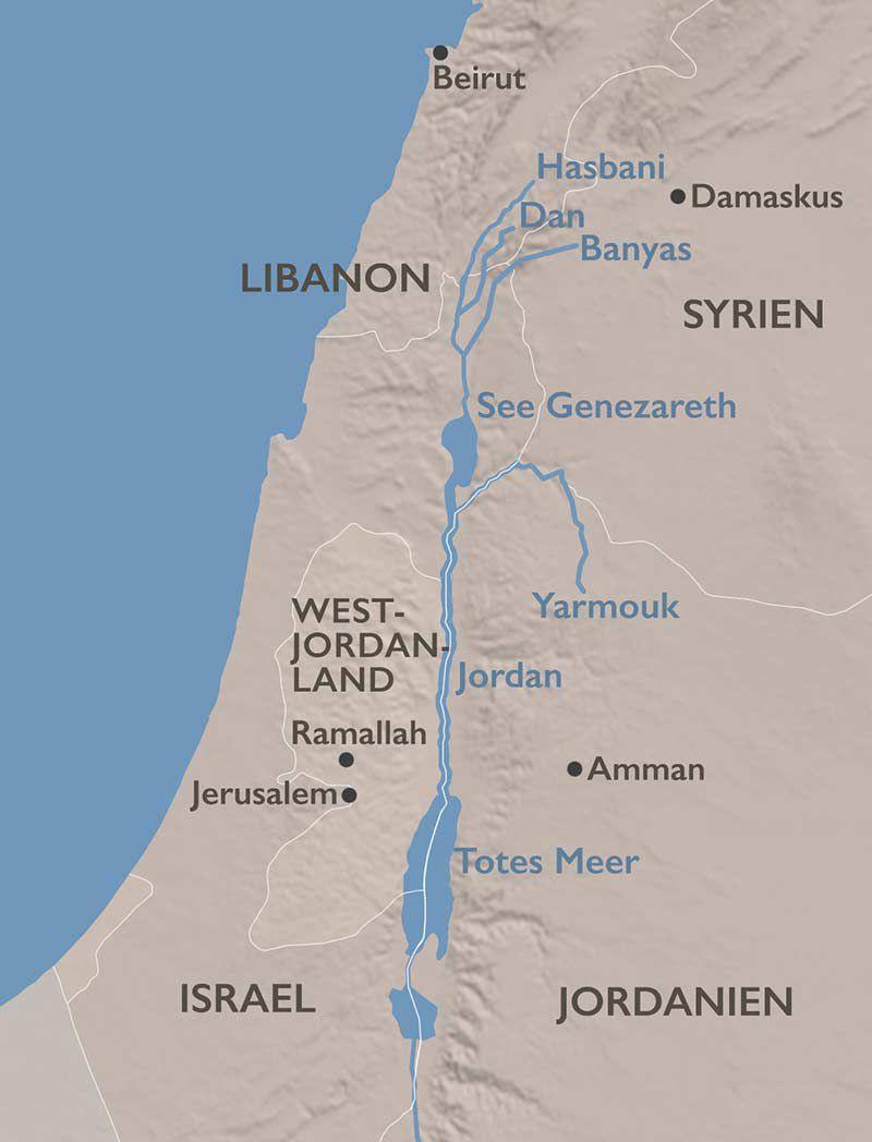 Jordanien Karte.Blog Der Wüste Geht Das Wasser Aus